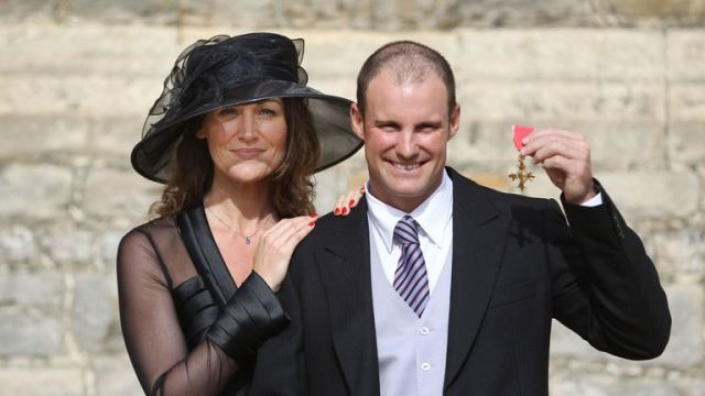 The couple after Strauss was awarded his OBE in 2011