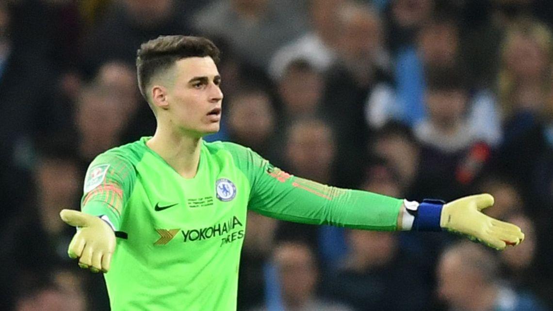 Image Result For Kepa Arrizabalaga Chelsea Goalkeeper Fined For Wembley Incident
