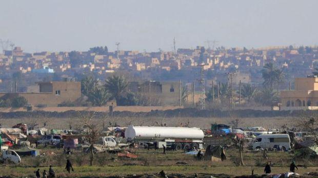 IS members in Baghuz