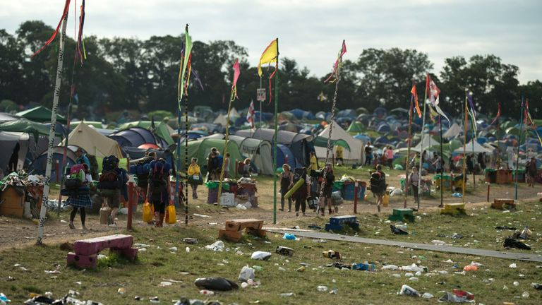 Thousands of volunteers take part in huge clean up operations once the festival is over