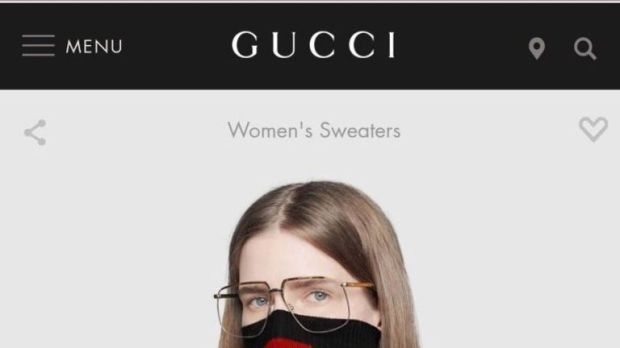 Gucci has been accused of selling a jumper that resembles 'blackface'. Pic: Gucci/Spring