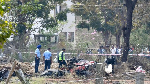 A pilot has been killed after two planes collided mid-air while rehearsing for an aerobatic show in India