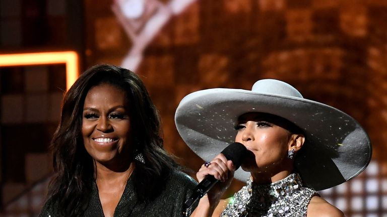 Michelle Obama and Jennifer Lopez appeared on stage together