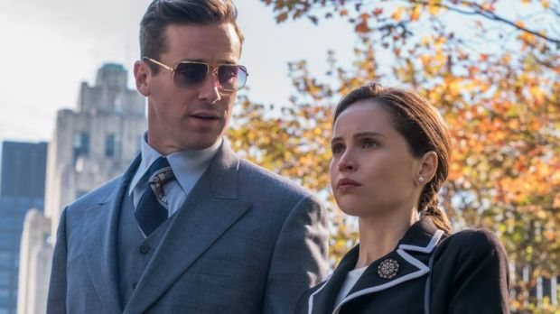 Armie Hammer as Marty Ginsburg and Felicity Jones as Ruth Bader Ginsburg in Mimi Leder's ON THE BASIS OF SEX, a Focus Features release