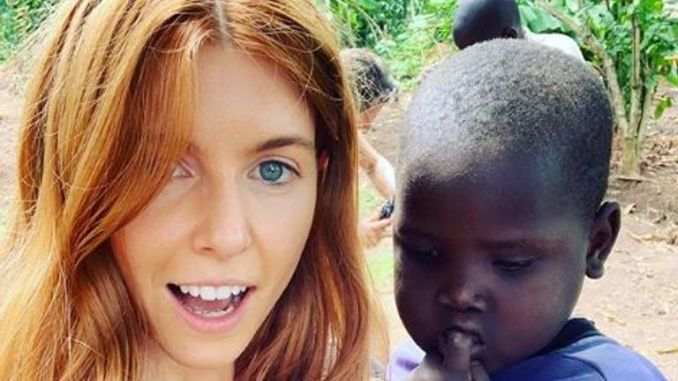Stacey Dooley shares a picture while filming in Uganda for Comic Relief