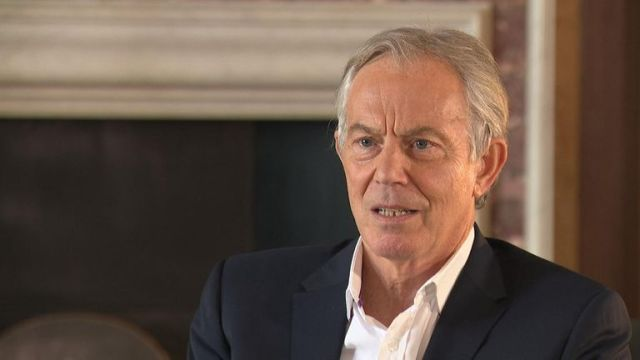 Mr Blair said leaving the EU without knowing what type of Brexit Britain wanted would be 'foolish'