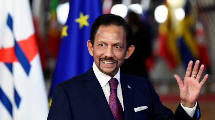 The Sultan of Brunei is in charge of the country, which is under Sharia Law