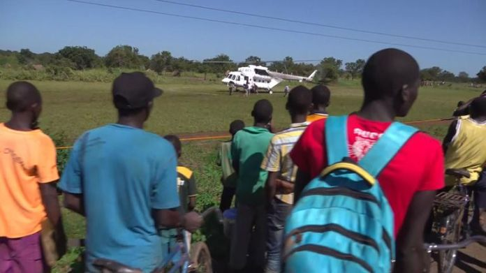 Helicopters are being used to deliver aid to those who need it
