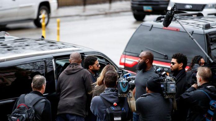 Jussie Smollett arrives at the court in Chicago