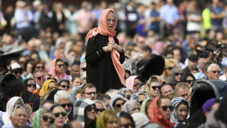 This was a powerful moment as New Zealanders expressed solidarity