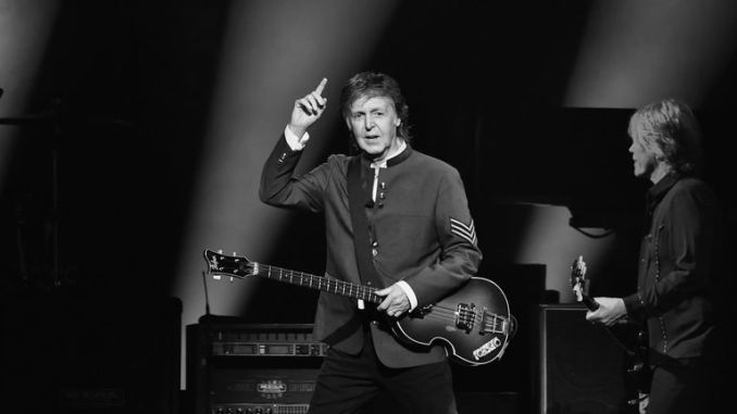 Paul McCartney performs in concert at American Airlines Arena on July 7, 2017 in Miami, Florida.