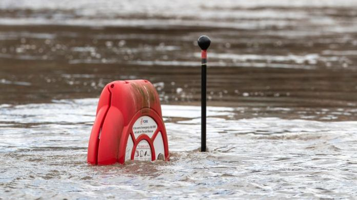 The river Ouse has invaded its shores in York and caused flooding