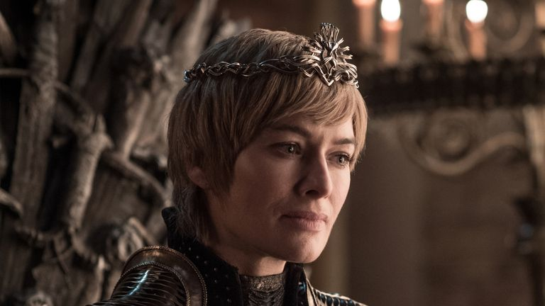 Lena Headey as Cersei Lannister in Game Of Thrones. Pic: Sky Atlantic/ HBO