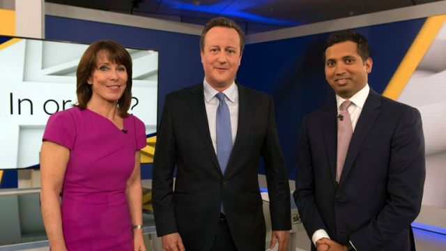 Faisal hosted one of the debates around the EU referendum with Sky's Kay Burley