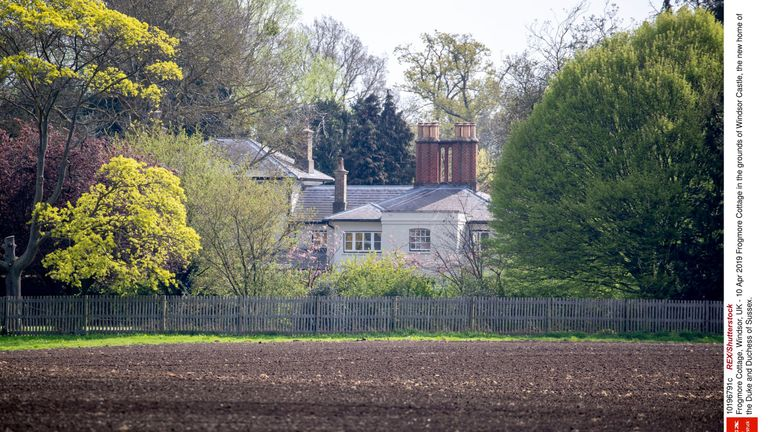 Frogmore Cottage in the grounds of Windsor Castle, the new home of the Duke and Duchess of Sussex
