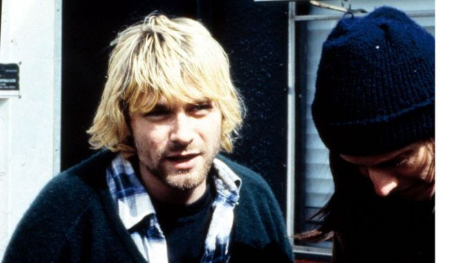 Cobain backstage at Reading in 1992