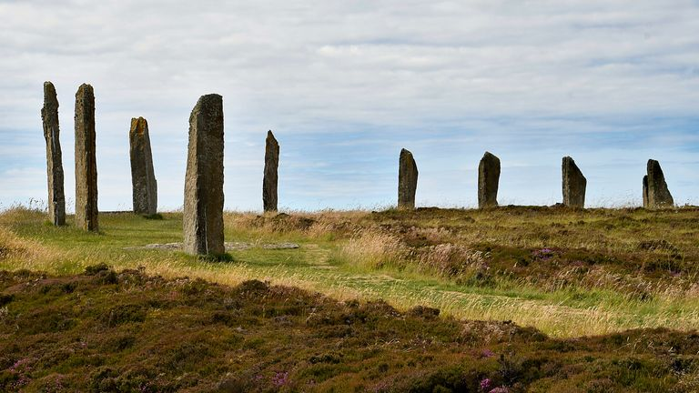 One of the ancient stone circles on Orkney