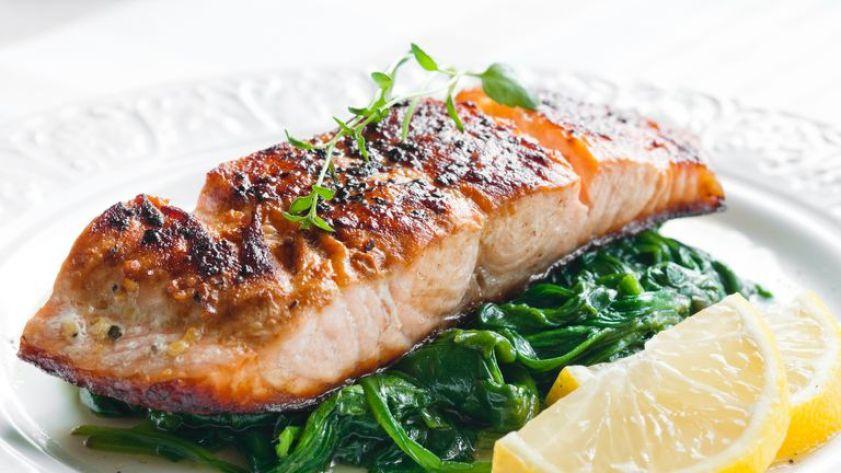 Omega-3 fatty acids are found in oily fish including salmon
