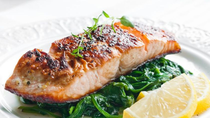 Omega-3 fatty acids are found in oily fish including salmon