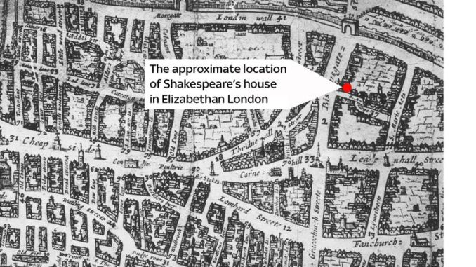 The approximate location of Shakespeare's House according to new research
