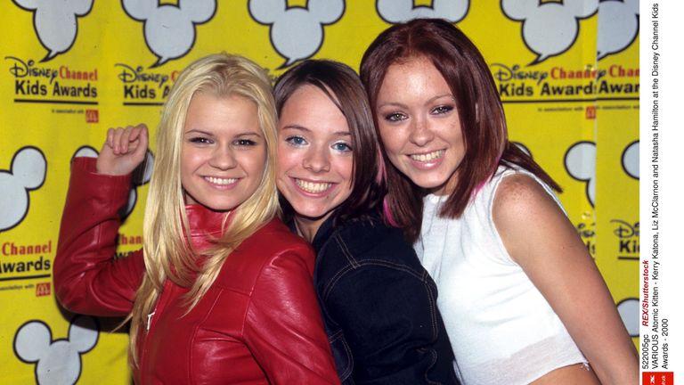 Atomic Kitten - Kerry Katona, Liz McClarnon and Natasha Hamilton at the Disney Channel Kids Awards - 2000  2000
