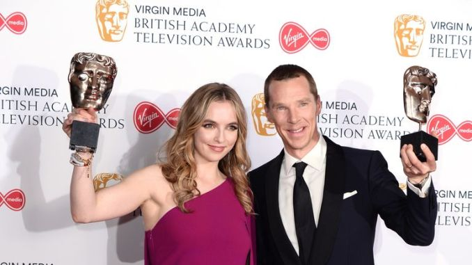 Leading actress award winner Jodie Comer and Benedict Cumberbatch, winner of the leading actor award