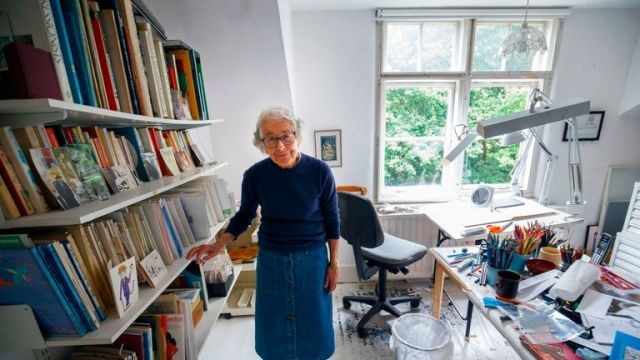 Judith Kerr at her home in west London in June 2018