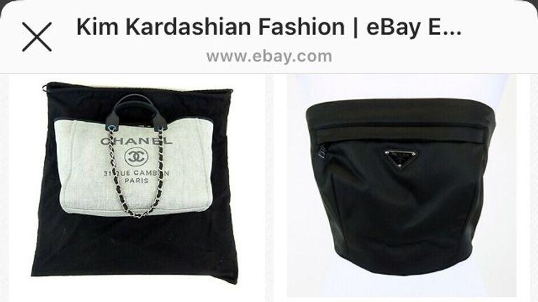 Kim Kardashian sells clothes on ebay for charity