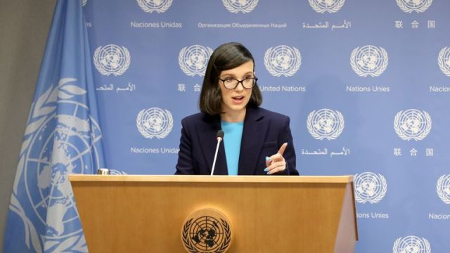 Millie Bobby Brown speaking after being appointed UNICEF's youngest-ever Goodwill Ambassador