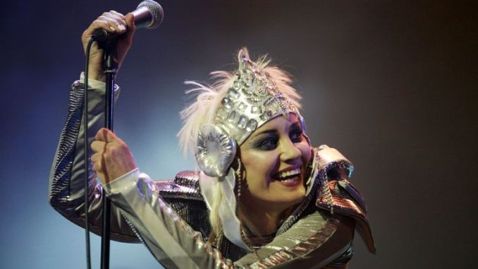 Siobhan Fahey continued with Shakespears Sister as a solo project - picture from the Isle Of Wight Festival in 2010