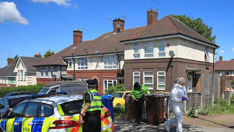 Police on Gregg House Road in Shiregreen, Sheffield