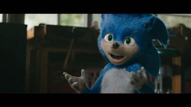 Sonic the Hedgehog's look in the film has been criticised. Pic: Paramount Pictures