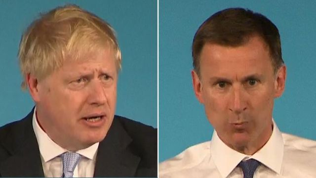 Boris Johnson and Jeremy Hunt spoke at a hustings event in Bournemouth
