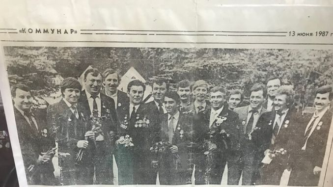 A newspaper clipping from 1987 after the incident