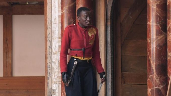 Sarah Amankwah plays Henry in Henry V and is the first woman of colour to play him on a major UK stage