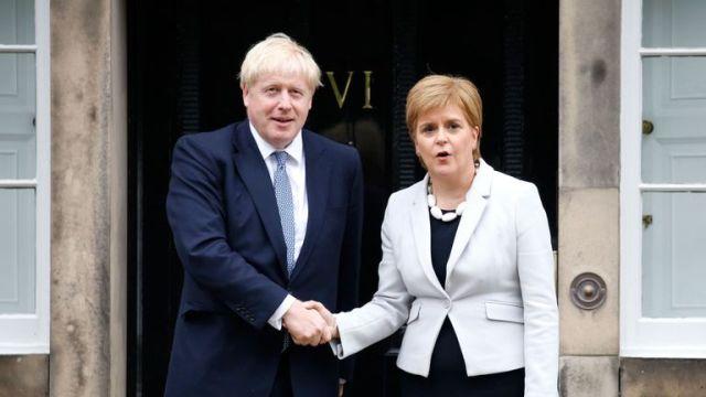 Boris Johnson and Nicola Sturgeon met in Edinburgh earlier