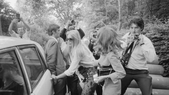 Brian Jones's girlfriend Anna Wohlin leaves Cotchford Farm in East Sussex, after Jones had drowned in the farm's swimming pool, 3rd July 1969