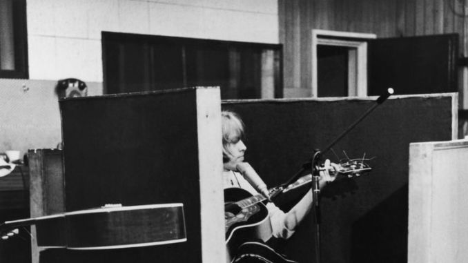 Brian Jones during the recording of the album 'Beggars Banquet' at Olympic Studios in Barnes, London, 1968