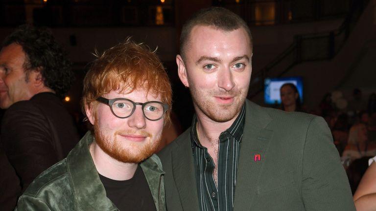Ed Sheeran and Sam Smith at the Silver Clef Awards