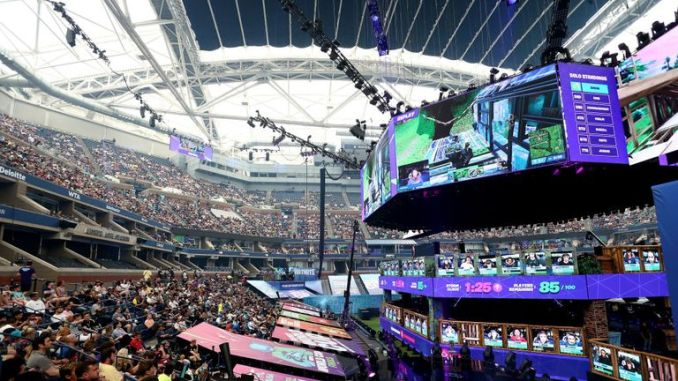 General view of the Fortnite World Cup Finals - Final Round at Arthur Ashe Stadium
