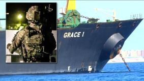 The ship was boarded by Royal Marines and Gibraltarian authorities