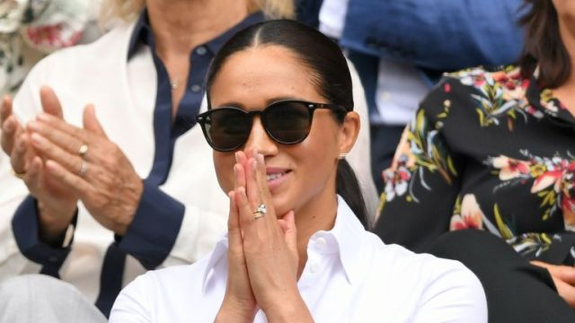 The Duchess of Sussex watches her close friend Serena Williams in the final