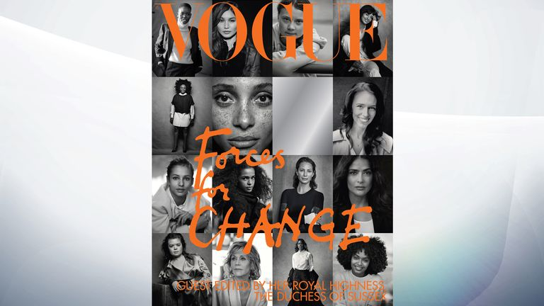 Fifteen women chosen by the duchess feature on the cover