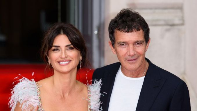 """Penelope Cruz and Antonio Banderas attend the """"Pain And Glory"""" UK Premiere and opening gala of Film4 Summer Screen at Somerset House on August 08, 2019 in London, England"""