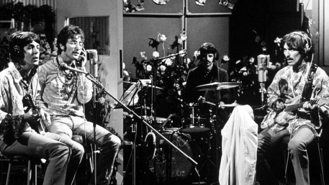 The Beatles at EMI Studios (now Abbey Road) in 1967