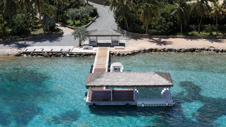 Little St. James Island, one of the properties of financier Jeffrey Epstein, is seen in an aerial view near Charlotte Amalie, St. Thomas, U.S. Virgin Islands July 21, 2019