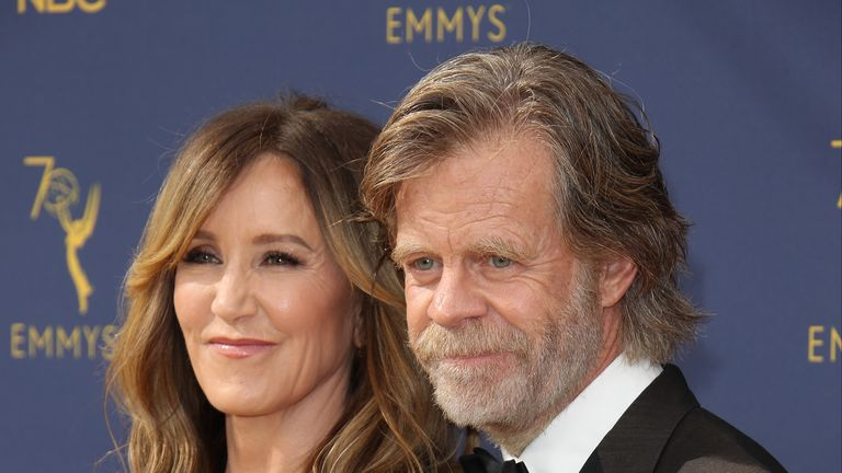 Felicity Huffman and her husband William Macy