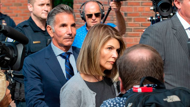 Actress Lori Loughlin and her fashion designer husband Mossimo Giannulli