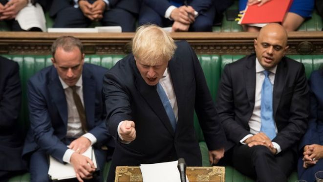 Boris Johnson in the House of Commons Pic: UK Parliament/Jessica Taylor