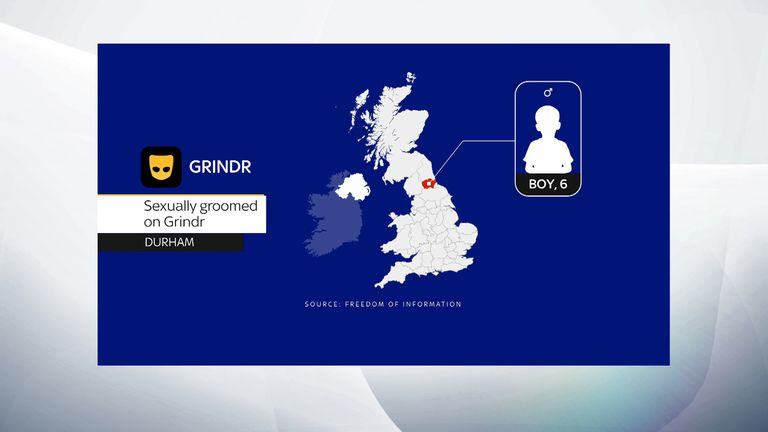 A six-year-old boy in Durham wassexually groomed after contact on Grindr